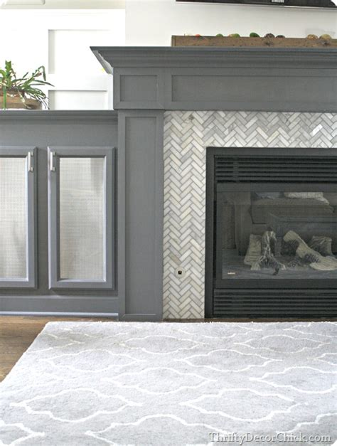 Re Tiling A Fireplace Surround by Tiling A Fireplace Surround From Thrifty Decor