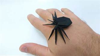 How To Make An Origami Spider - how to make creepy origami spider