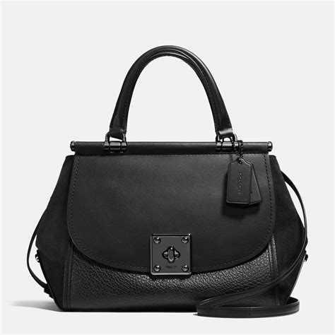 coach drifter carryall in mixed leather handbags