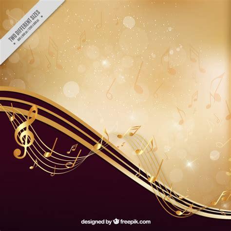 imagenes musicales para fondos fondo musical elegante dorado descargar vectores gratis