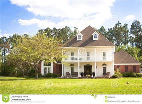 american home southern style mansion stock photo image