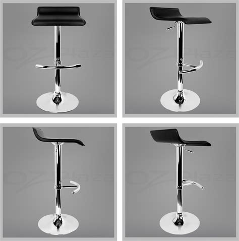 black leather bar stools contemporary kitchen angus 4x bar stool kitchen barstool pu leather chair gas lift