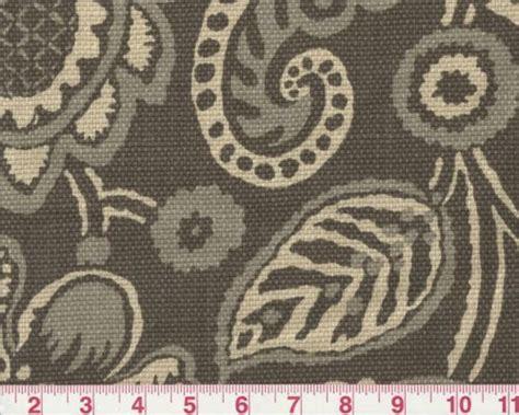 elephant upholstery fabric jacobean floral gray print by p kaufmann drapery