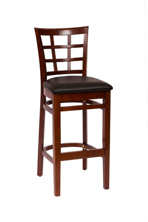 commercial wood bar stools commercial mahogany wood window pane bar stool bar