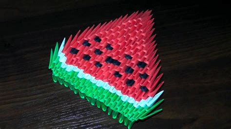 3d Origami Beginners - 3d origami watermelon for beginners tutorial