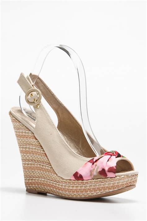 Wedges Floral floral accent peep toe wedges cicihot wedges shoes store