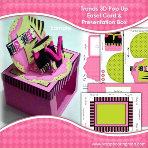 3d box card template trends 3d pop up easel card presentation box 163 1 00
