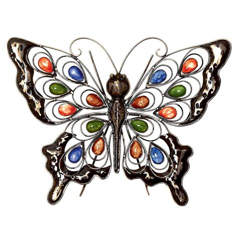 metal butterfly wall indoor outdoor garden