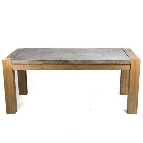 concrete and wood dining table rustic kitchen rectangular dining table elm