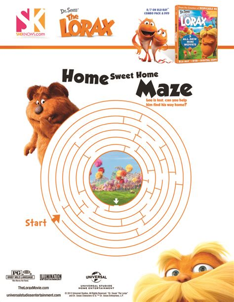 printable maze book lorax book sheet cake ideas and designs