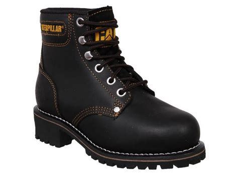 Caterpillar Boots Safety 37 womens caterpillar cat logger leather steel toe cap safety
