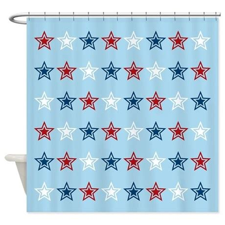 red white blue shower curtain red white and blue shower curtain by oddmatterhome