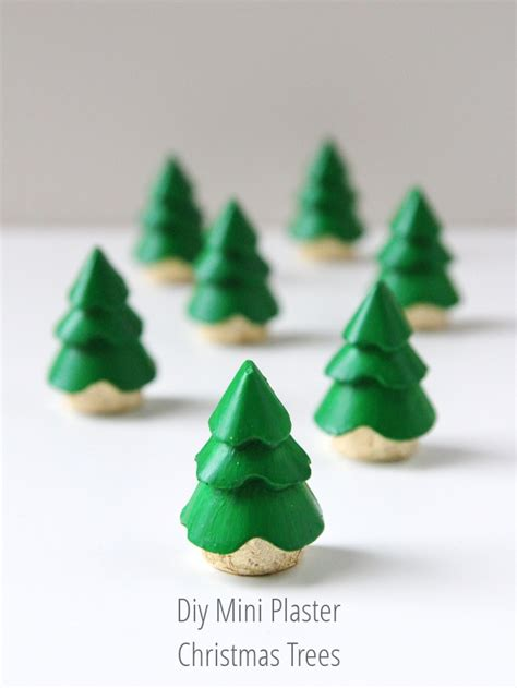 diy mini plaster christmas tree decorations gathering