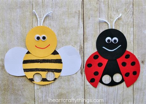 incredibly cute bee finger puppets craft i heart crafty
