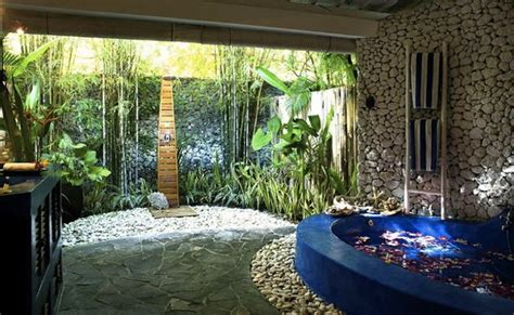 outside bathroom ideas bathroom tropical outdoor bathroom design with romantic