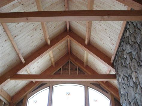 Vaulted Ceiling Construction by Post Beam Plus Mixed Frame Construction