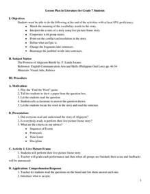detailed lesson plan template semi detailed lesson plan