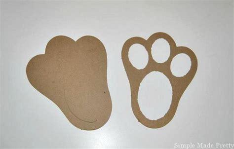 printable easter bunny feet template simple