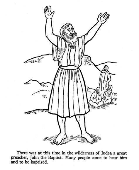 Printable Coloring Pages John The Baptist | john the baptist coloring pages for kids coloring home