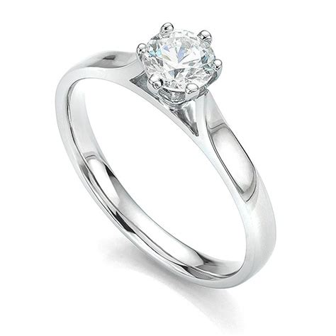 ballerina 6 claw tiffany style solitaire engagement ring