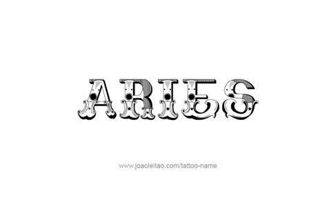 zodiac tattoo fonts aries tattoos lettering pictures to pin on