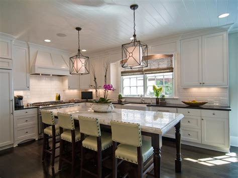 Island Lights For Kitchen Large Kitchen Window Treatments Hgtv Pictures Ideas Kitchen Ideas Design With Cabinets