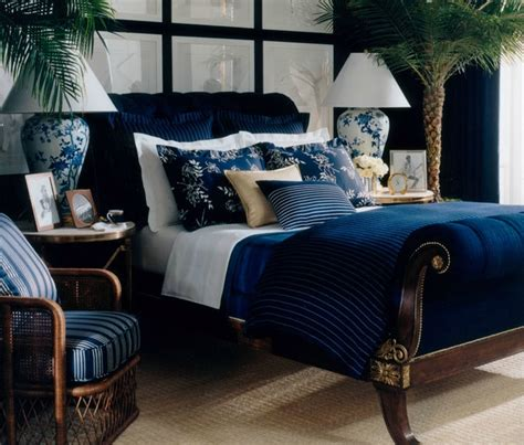 ralph lauren bedroom ralph lauren blue white gold bedroom home decor
