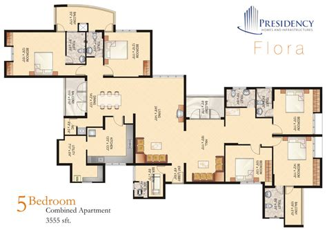 5 bedroom apartment floor plans five bedroom house plans
