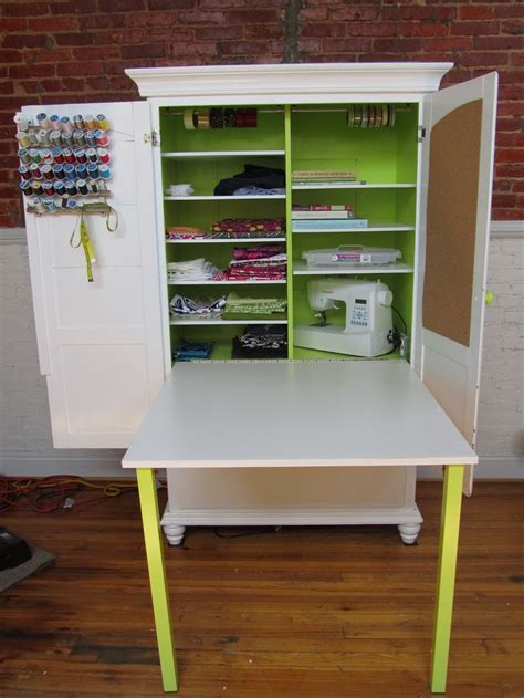 craft cabinet with fold down table 63 best images about cuartos de costura on