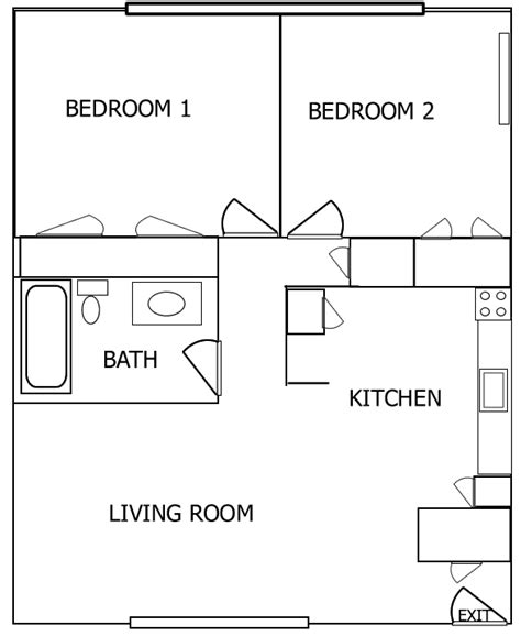 small 2 bedroom apartment floor plans kr rentals an iowa city rental agency