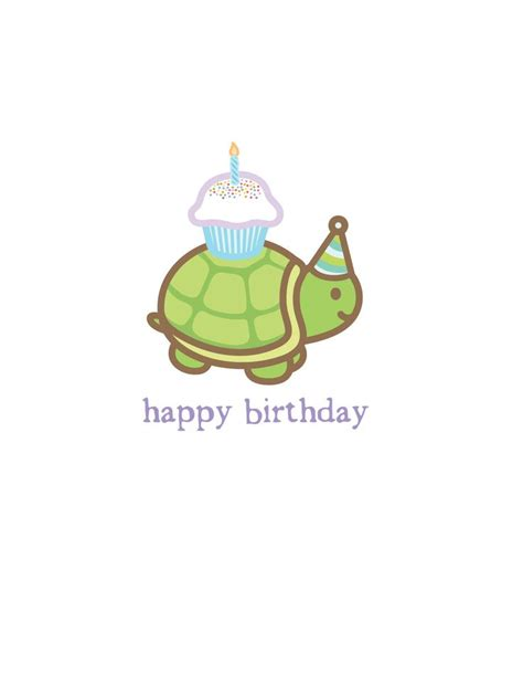 Turtle Birthday Card Birthday Turtle Turtles Pinterest