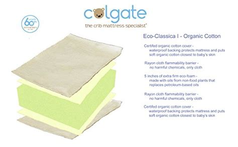 colgate classica i foam crib mattress colgate eco classica i organic cotton foam crib mattress with waterproof cover beige
