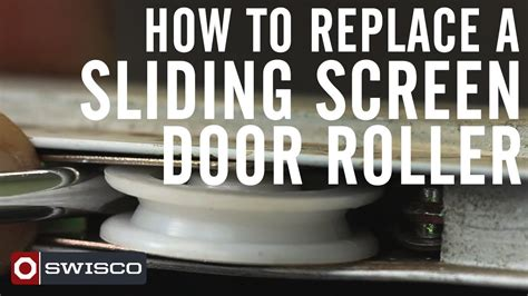 How To Replace A Sliding Screen Door Roller 1080p Youtube How To Replace Patio Door Rollers