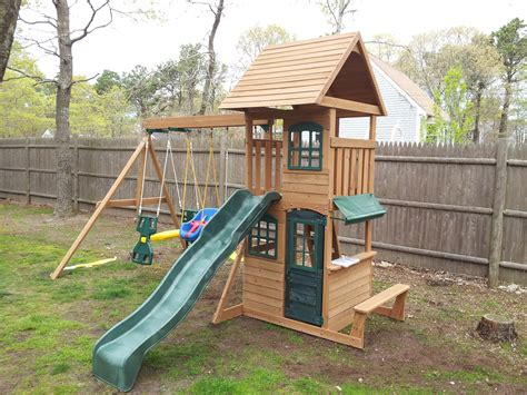 big backyard swing set e street assembly big backyard cedar summit built