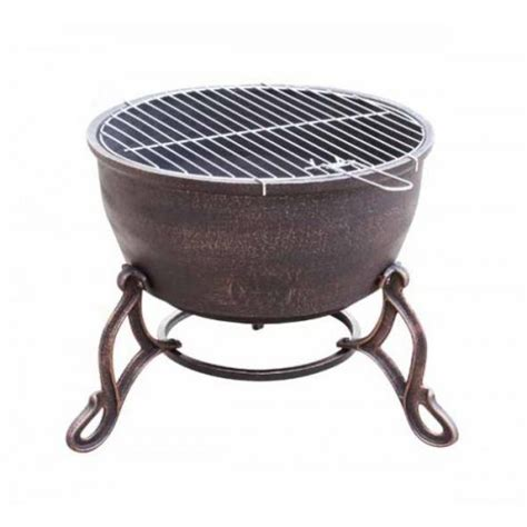 Elidir Cast Iron Fire Bowl Bbq Grill In One Patio Heater Cast Iron Patio Heater
