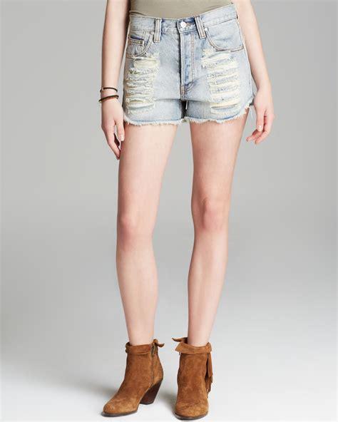 light pink shorts mink pink shorts denim slasher in light wash in blue