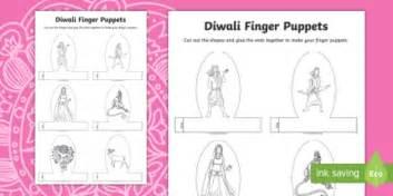 diwali puppets templates diwali story character finger puppets activity diwali