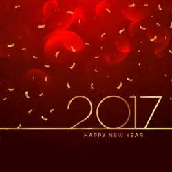 2017 new year celebration background in red color vector