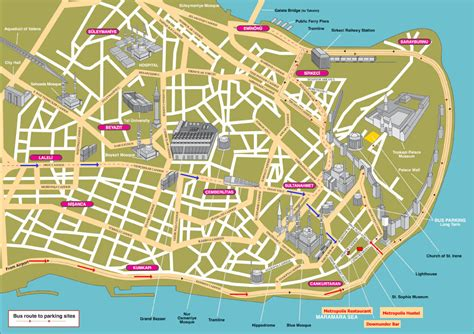 tourist attractions map map of istanbul tourist attractions sightseeing tourist