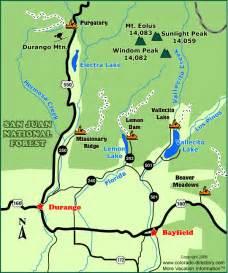 durango snowmobile trails map colorado vacation directory