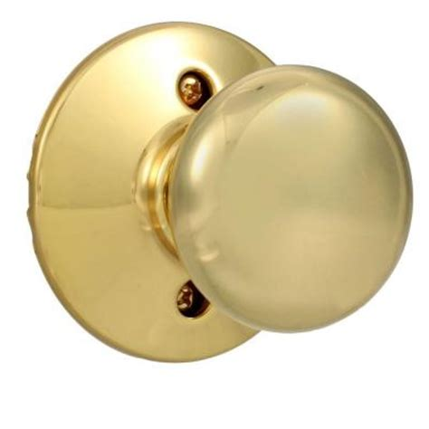 Schlage Plymouth Knob by Schlage Plymouth Bright Brass Dummy Knob F170 Ply 605