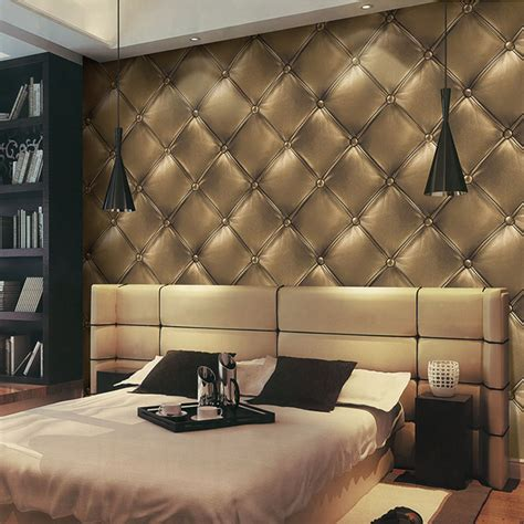 gold wallpaper panels gold luxury wallpapers fashion 3d faux leather soft wrap
