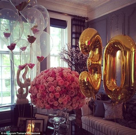 Decorating A Room With Balloons by Tamara Ecclestone Poses With Next To 30 Made