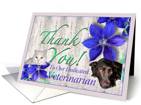 free printable thank you cards for veterinarians veterinarian thank you with cat and dog card 629530
