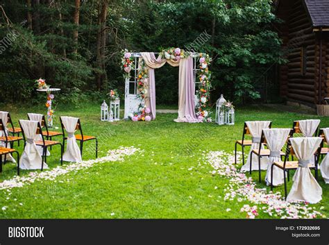 Nature Wedding Concept by Beautiful Wedding Ceremony Outdoors Image Photo Bigstock