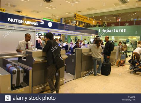 london heathrow airport terminal 1 check in desk and
