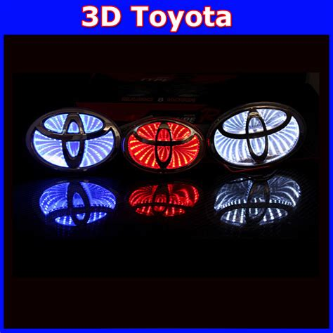 logo toyota yaris car 3d toyota led logo sticker emblem badge light front