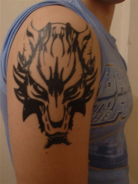 ff7 tattoo free wallpaper wolf