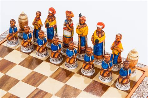 themed chess sets mini tribal chess set 187 kumbula shop