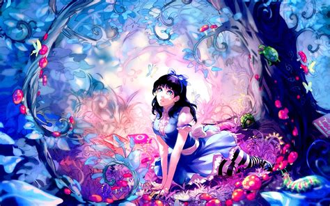 wallpaper design anime alice alice in wonderland hd wallpaper stylishhdwallpapers